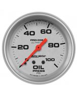 "2-5/8"" OIL PRESSURE, 0-100 PSI, MECHANICAL, ULTRA-LITE"