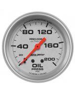 "2-5/8"" OIL PRESSURE, 0-200 PSI, MECHANICAL, ULTRA-LITE"
