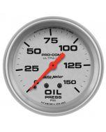 "2-5/8"" OIL PRESSURE, 0-150 PSI, MECHANICAL, ULTRA-LITE"