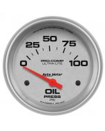"""2-5/8"""" OIL PRESSURE, 0-100 PSI, AIR-CORE, ULTRA-LITE"""