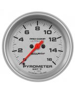 "2-5/8"" PYROMETER, 0-1600 °F, STEPPER MOTOR, ULTRA-LITE"