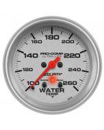 "2-5/8"" WATER TEMPERATURE, W/ PEAK & WARN, 100-260 °F, STEPPER MOTOR, ULTRA-LITE"