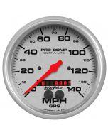 "5"" GPS SPEEDOMETER, 0-140 MPH, ULTRA-LITE"
