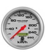 "5"" SPEEDOMETER, 0-260 KM/H, ELECTRIC, ULTRA-LITE"