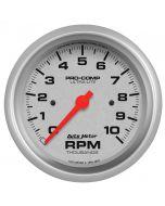 """3-3/8"""" IN-DASH TACHOMETER, 0-10,000 RPM, ULTRA-LITE"""