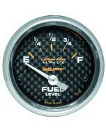 """2-1/16"""" FUEL LEVEL, 240-33 Ω, AIR-CORE, SSE, CARBON FIBER"""