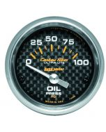 "2-1/16"" OIL PRESSURE, 0-100 PSI, AIR-CORE, CARBON FIBER"