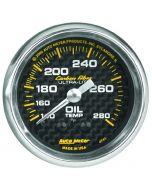 "2-1/16"" OIL TEMPERATURE, 140-280 °F, 6 FT., MECHANICAL, CARBON FIBER"