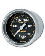 "2-1/16"" FUEL PRESSURE, 0-100 PSI, STEPPER MOTOR, CARBON FIBER"