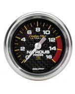 "2-1/16"" NITROUS PRESSURE, 0-1600 PSI, STEPPER MOTOR, CARBON FIBER"