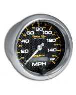 "3-3/8"" SPEEDOMETER, 0-160 MPH, ELECTRIC, CARBON FIBER"