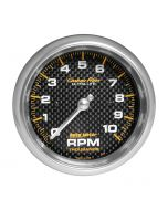 "3-3/8"" IN-DASH TACHOMETER, 0-10,000 RPM, CARBON FIBER"