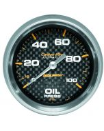 "2-5/8"" OIL PRESSURE, 0-100 PSI, MECHANICAL, CARBON FIBER"