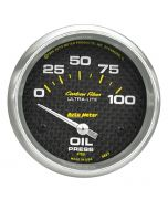 "2-5/8"" OIL PRESSURE, 0-100 PSI, AIR-CORE, CARBON FIBER"