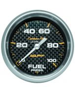 "2-5/8"" FUEL PRESSURE, 0-100 PSI, PEAK/WARN, STEPPER MOTOR, CARBON FIBER"