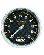 "5"" IN-DASH TACHOMETER, 0-10,000 RPM, CARBON FIBER"
