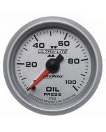 "2-1/16"" OIL PRESSURE, 0-100 PSI, MECHANICAL, ULTRA-LITE II"