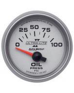"""2-1/16"""" OIL PRESSURE, 0-100 PSI, AIR-CORE, ULTRA-LITE II"""