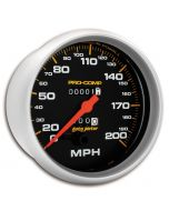 "5"" SPEEDOMETER, 0-200 MPH, MECHANICAL, PRO-COMP"