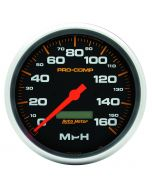 "5"" SPEEDOMETER, 0-160 MPH, ELECTRIC, PRO-COMP"