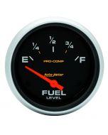 """2-5/8"""" FUEL LEVEL, 240-33 Ω, AIR-CORE, SSE, PRO-COMP"""