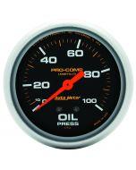 "2-5/8"" OIL PRESSURE, 0-100 PSI, MECHANICAL, LIQUID FILLED, PRO-COMP"