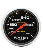 """2-5/8"""" WATER TEMPERATURE, 140-280 °F, 6 FT., MECHANICAL, LIQUID FILLED, PRO-COMP"""