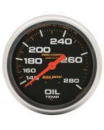 "2-5/8"" OIL TEMPERATURE, 140-280 °F, 12 FT., MECHANICAL, LIQUID FILLED, PRO-COMP"