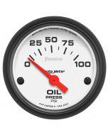 """2-1/16"""" OIL PRESSURE, 0-100 PSI, AIR-CORE, PHANTOM"""