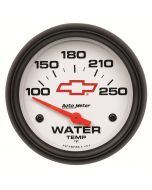 "2-5/8"" WATER TEMPERATURE, 100-250 °F, CHEVY RED BOWTIE"