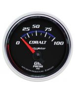 "2-1/16"" OIL PRESSURE, 0-100 PSI, AIR-CORE, COBALT"