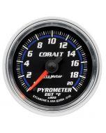 """2-1/16"""" PYROMETER, 0-2000 °F, STEPPER MOTOR, COBALT"""