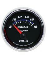 "2-1/16"" VOLTMETER, 8-18V, AIR-CORE, COBALT"