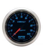"3-3/8"" IN-DASH TACHOMETER, 0-10,000 RPM, COBALT"