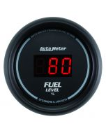 "2-1/16"" FUEL LEVEL, PROGRAMMABLE 0-280 Ω, DIGITAL BLACK"