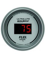 "2-1/16"" FUEL LEVEL, PROGRAMMABLE 0-280 Ω, DIG. SILVER"