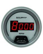 """3-3/8"""" IN-DASH TACHOMETER, 0-10,000 RPM, ULTRA-LITE DIGITAL"""