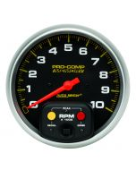 "TACHOMETER, 5"", 0-10,000 RPM, IN-DASH W/PEAK MEMORY, PRO-COMP"