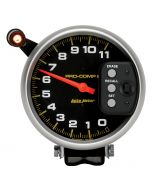 "5"" TACHOMETER, 0-11,000 RPM, PEDESTAL W/ QUICK LITE & PEAK MEMORY, PRO-COMP"