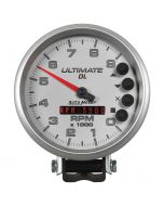 "5"" TACHOMETER, 0-9000 RPM, PEDESTAL, ULTIMATE DL PLAYBACK, SILVER"