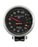 """5"""" TACHOMETER, 0-11,000 RPM, PEDESTAL, ULTIMATE DL PLAYBACK, BLACK"""