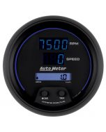 "3-3/8"" TACHOMETER/SPEEDOMETER COMBO, 8K RPM/260 MPH, ELECTRIC, COBALT DIGITAL"
