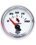 "2-1/16"" OIL PRESSURE, 0-100 PSI, AIR-CORE, C2"