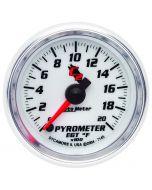 "2-1/16"" PYROMETER, 0-2000 °F, STEPPER MOTOR, C2"