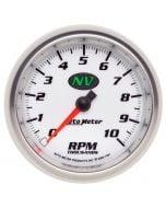 """3-3/8"""" IN-DASH TACHOMETER, 0-10,000 RPM, NV"""