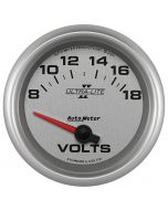 "2-5/8"" VOLTMETER, 8-18V, AIR-CORE, ULTRA-LITE II"