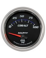 "2-5/8"" OIL PRESSURE, 0-100 PSI, AIR-CORE, COBALT"