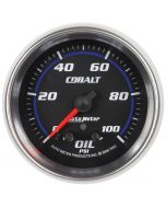 "2-5/8"" OIL PRESSURE, W/ PEAK & WARN, 0-100 PSI, STEPPER MOTOR, COBALT"