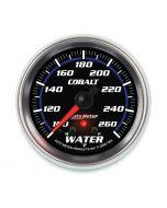 "2-5/8"" WATER TEMPERATURE, W/ PEAK & WARN, 100-260 °F, STEPPER MOTOR, COBALT"