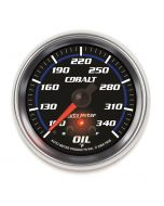 "2-5/8"" OIL TEMPERATURE, W/ PEAK & WARN, 100-340 °F, STEPPER MOTOR, COBALT"